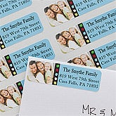 Personalized Photo Return Address Labels - New Year - 10633