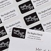 Holiday Return Address Labels - Peace, Love, Joy - 10637