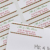Personalized Return Address Labels - Classic Holiday - 10640