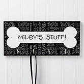 Dog Stuff© Personalized Plaque With Hooks