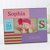 Baby Girl Personalized Picture Frames - 10648