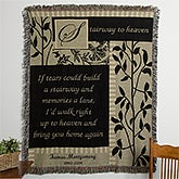 Personalized Memorial Afghan - Stairway to Heaven - 10652