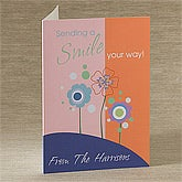 Sending A Smile Your Way Personalized Greeting Card
