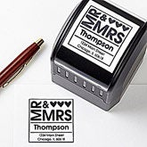 Personalized Address Stamp - Mr & Mrs - 10656