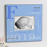 Personalized 5x7 Picture Frame - Baby Boy - 10660