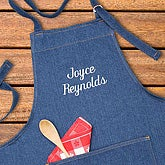 Embroidered Denim Apron  - 1067
