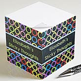 Personalized Sticky Note Cubes - Bold Thoughts - 10671