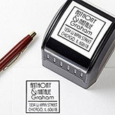 Personalized Address Stamp - Custom Names - 10674
