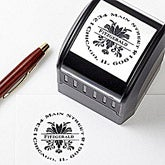 Custom Address Stamps - Damask Greetings - 10675