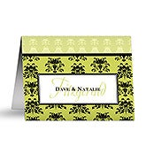 Personalized Stationery Note Cards - Damask Greetings - 10676