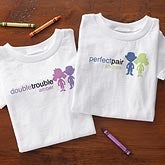 Personalized Twins Clothing - Double Trouble - 10693