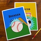 Personalized School Folders for Boys - Sports - 10698