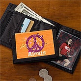 Personalized Kids Wallet - Peace Sign - 10699