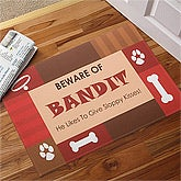 Beware of Dog© Personalized Doormat