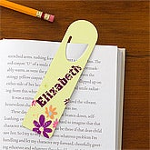 Flower Power Personalized Bookmark Set