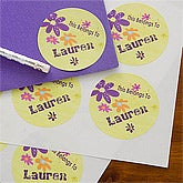 Personalized Stickers for Girls - Flower Power - 10715