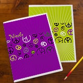 Personalized School Folders - Peace Sign - 10720