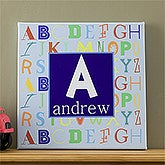 Personalized Canvas Art for Boys - Alphabet Name Art - 10722