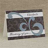 Thinking of You Personalized Greeting Cards - 10725