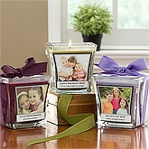 Personalized Photo Candles - Picture Perfect Glass Candle - 10736