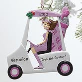 Personalized Christmas Ornaments - Golf Girl - 10743