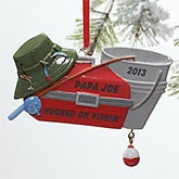 Personalized Fishing Christmas Ornament - Tackle Box - 10745