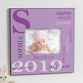 Personalized 5x7 Picture Frame - Baby Girl - 10750