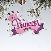 Personalized Christmas Ornaments for Girls - Princess Crown - 10755