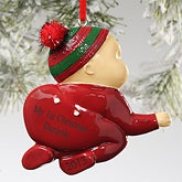 Personalized Baby Christmas Ornaments - Crawling Baby - 10758