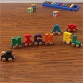 Personalized Wooden Rainbow Name Train