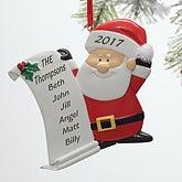 Personalized Santa Claus Christmas Ornament - 10760