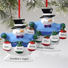 Frosty Snowman Personalized Christmas Ornaments - 10762