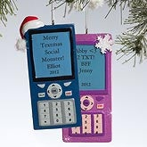Personalized Christmas Ornaments - Cell Phone - 10766
