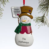 Personalized Snowman Christmas Ornament - 10769
