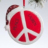 Personalized Christmas Ornaments - Peace Sign - 10770