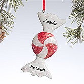 Personalized Christmas Ornaments - Peppermint Candy - 10771