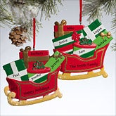 Personalized Christmas Ornaments - Santa's Sleigh