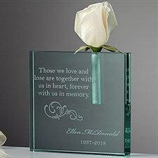 Personalized Memorial Bud Vase - Loving Memory - 10780