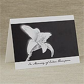 Personalized Condolence Cards - In Memory - 10787