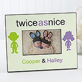 Personalized Twin Picture Frames - Double Trouble - 10793
