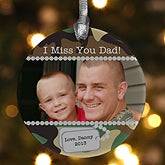 Military Photo Christmas Ornaments - Camo - 10796
