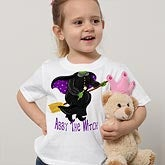 Personalized Girls Halloween Witch T-Shirt
