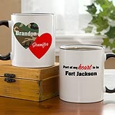 Personalized Military Coffee Mugs - Hearts & Camo - 10820