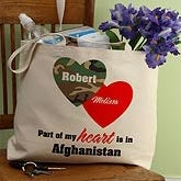 Hearts and Camo© Personalized Canvas Tote