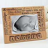 Personalized Baby Photo Frames - Pride & Joy - Horizontal