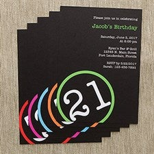 Personalized Birthday Party Invitations - Perfectly Aged - 10837