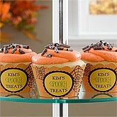 Personalized Halloween Cupcake Wrappers - Spider Web - 10838