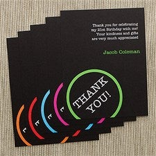 Personalized Birthday Party Thank You Cards - Perfectly Aged - 10839