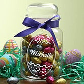 Chocolate Easter Eggs Jar
