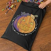 Personalized Halloween Trick Or Treak Bag for Boys - Pumpkin - 10855